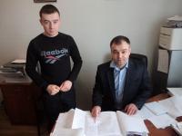 Завідувач лабораторії інженерно-транспортних досліджень Лубенцов А.В. зі стажистом
